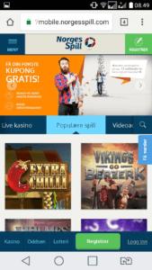 test av norgesspill mobilcasino
