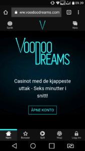 test av voodoodreams mobilcasino gratisspinn uten innskudd